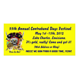 Pirate Contraband Days Louisiana 30 Colours Personalized Rack Card