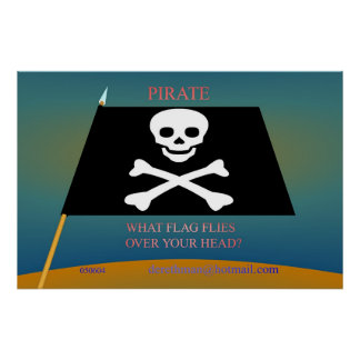 Pirate Flag (print) Poster