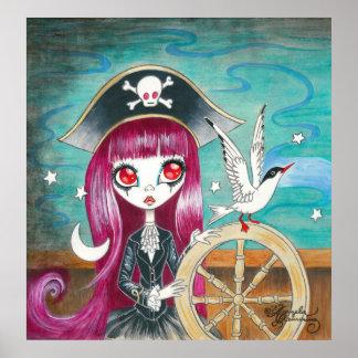 "Pirate Girl : ""Hilda"" Print"