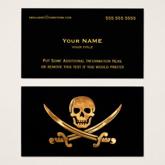 Pirate Gold Business Card