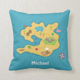 Pirate Island Adventure Treasure Map Boys Room Pillows