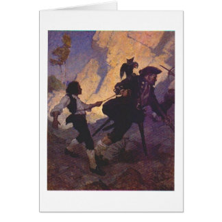 Pirate Long John Silver Greeting Card