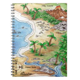 Pirate Map Notebook