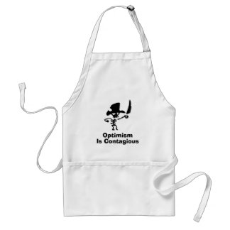 Pirate Optimism Is Contagious Adult Apron