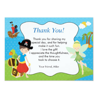 Pirate Pixie Fairy Thank You Card 13 Cm X 18 Cm Invitation Card