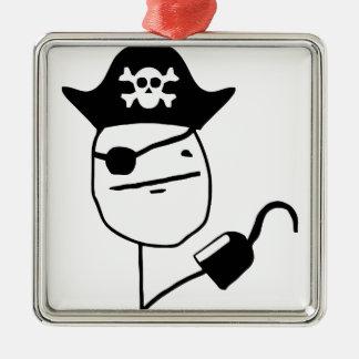 Pirate poker face - meme christmas ornament