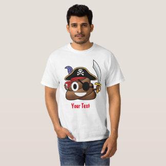 Pirate Poop Emoji Halloween T-Shirt