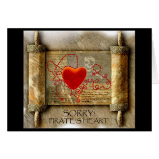 Pirate' s Heart Stationery Note Card