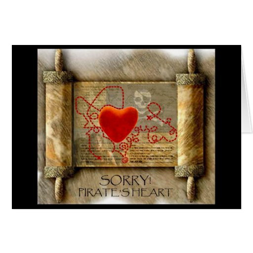Pirate' s Heart Greeting Cards