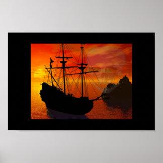 Pirate Scape Print
