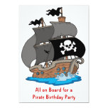 Pirate Ship Birthday Party Personalised Invitations