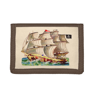 Pirate Ship Trifold Wallets