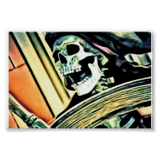 Pirate Skeleton Poster
