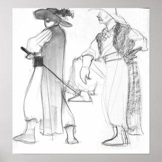 Pirate sketch print