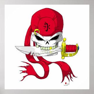 Pirate Skull Bandanna Poster