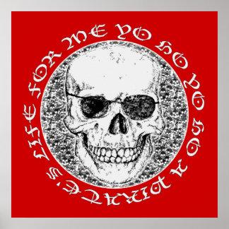 pirate skull poster
