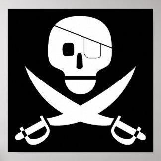 Pirate Skull Poster Print