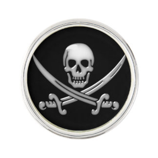 Pirate Skull & Sword Crossbones (TLAPD) Lapel Pin