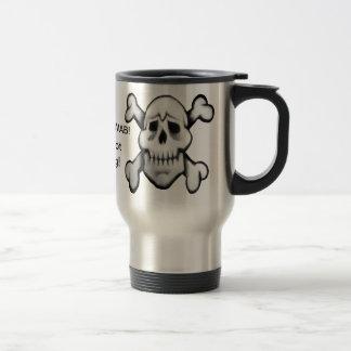 pirate skulls - touch not me mug