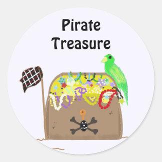 Pirate Treasure Classic Round Sticker