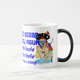 Pirate Water Conservation Customize Spanish Morphing Mug