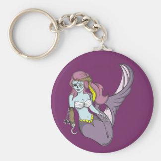 Pirate Zombie Mermaid Basic Round Button Key Ring
