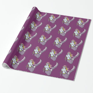 Pirate Zombie Mermaid Wrapping Paper