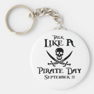 PirateDayKeyring1 Basic Round Button Key Ring