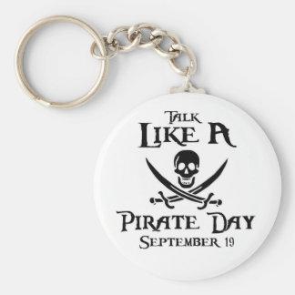 PirateDayKeyring1 Basic Round Button Key Ring