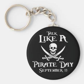 PirateDayKeyring3 Basic Round Button Key Ring