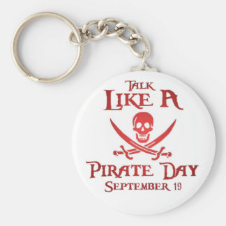 PirateDayKeyring4 Basic Round Button Key Ring