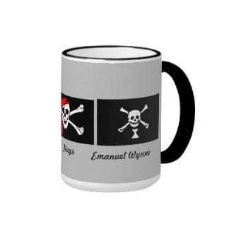 Pirates:  Flags Ringer Coffee Mug