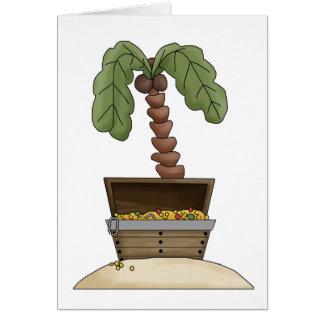 Pirates · Treasure Chest Island Greeting Card