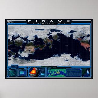 Pirawk Planet Atlas Poster