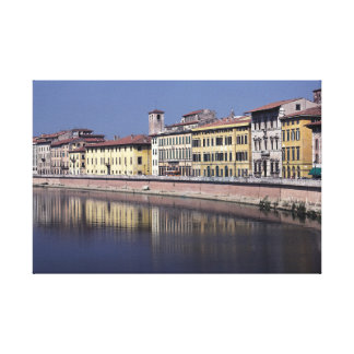 Pisa and the Arno Canvas Print