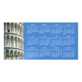 Pisa, Italy 2018 calendar Card