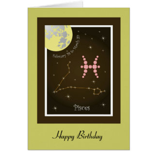 Pisces February 19 tons of March 20 map Card