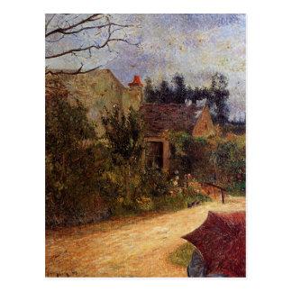 Pissarro's Garden, Pontoise by Paul Gauguin Postcard