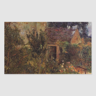 Pissarro's Garden, Pontoise by Paul Gauguin Rectangular Sticker