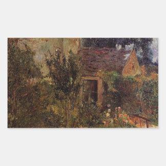 Pissarro's Garden, Pontoise by Paul Gauguin Rectangular Sticker