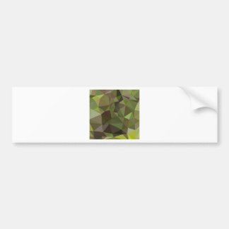Pistachio Green Abstract Low Polygon Background Bumper Sticker