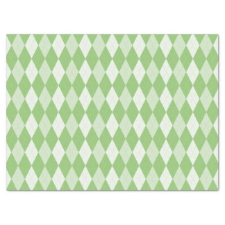 Pistachio Green Argyle Pale Green Small Diamond Tissue Paper