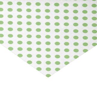 Pistachio Green Polka Dots Circles Tissue Paper