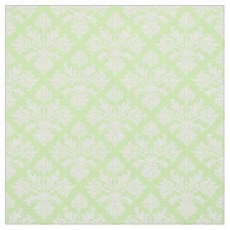 Pistachio Green, White Damask Pattern #3 Size6 Fabric