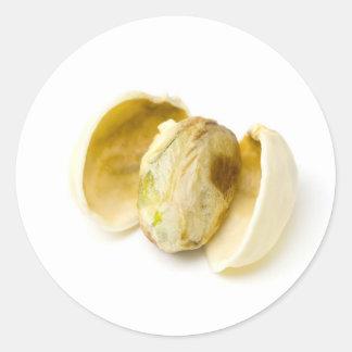 Pistachio nut classic round sticker