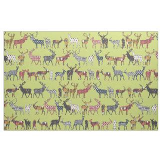 pistachio spice deer fabric