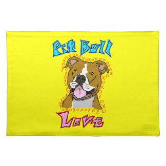 Pit Bull Love Placemat