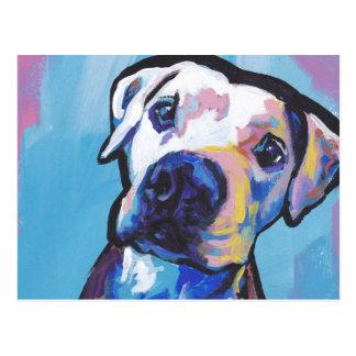 pit bull pitbull fun pop art postcard
