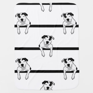 Pit Bull T-Bone Graphic Baby Blanket