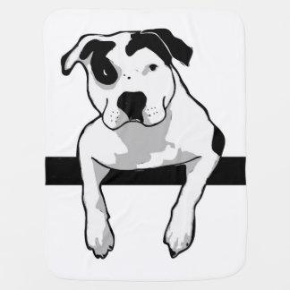 Pit Bull T-Bone Graphic Baby Blanket